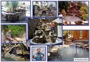 Водопады,  пруды,  каскады,  фонтаны! Декоративная штукатурка - имитации